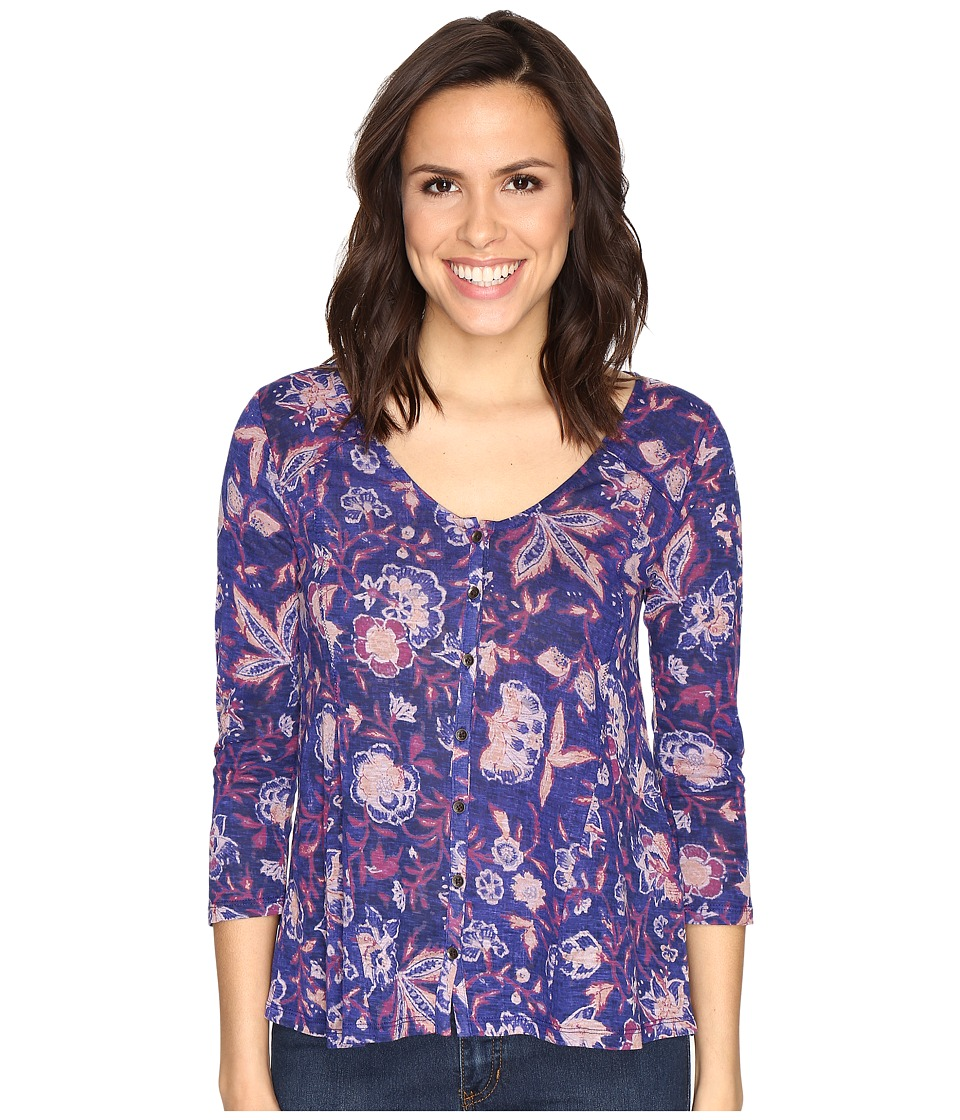 Lucky Brand - Floral Swing Top (Multi) Women's Clothing
