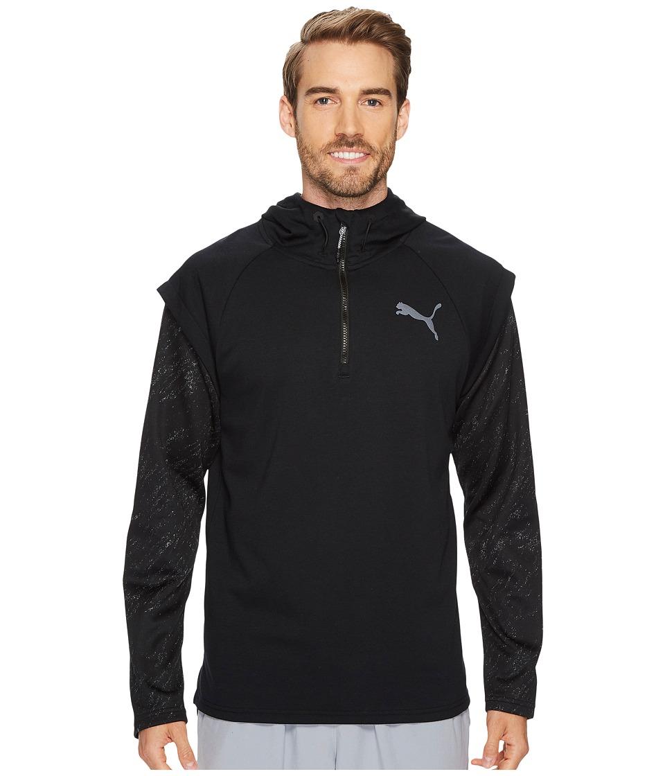 PUMA - 1/4 Zip Energy Hoodie (PUMA Black) Men's Sweatshirt