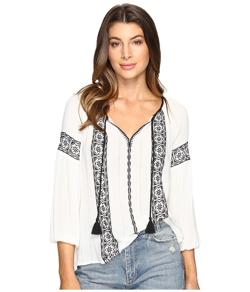 Lucky Brand - Embroidered Top (Lucky White) Women's Blouse