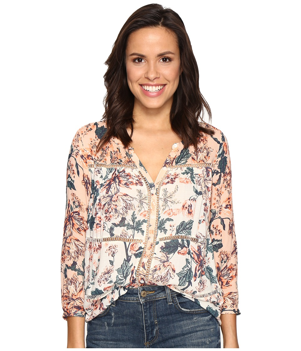 Lucky Brand - Mixed Print Peasant (Natural Multi) Women's Clothing