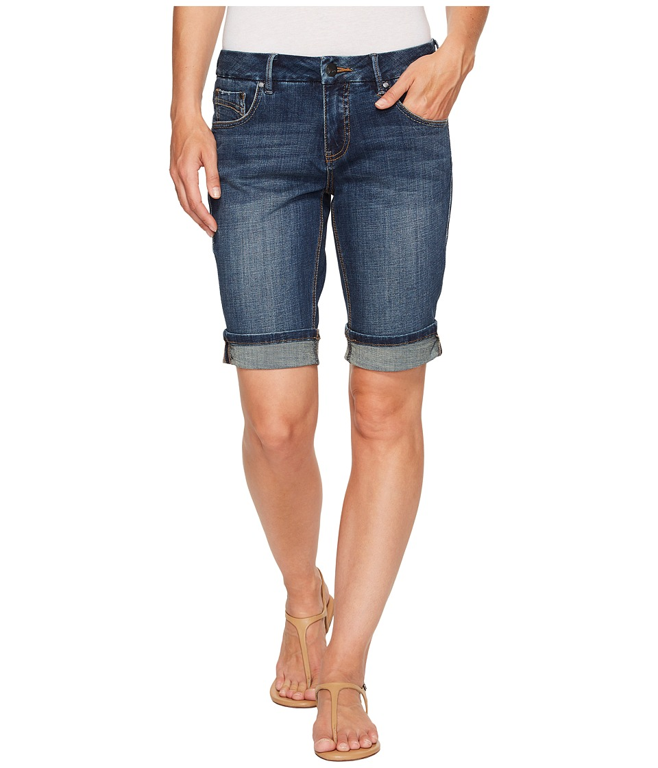 Jag Jeans - Redding Bermuda Crosshatch Denim in Thorne Blue (Thorne Blue) Women's Shorts