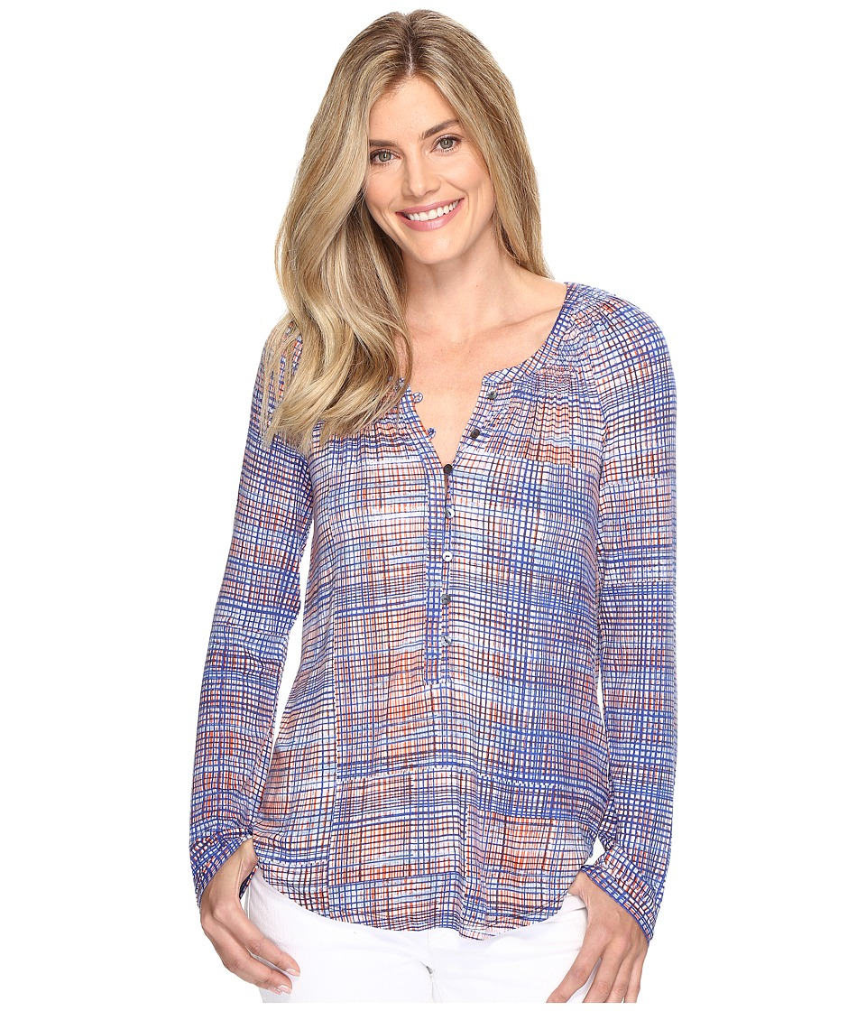 NIC+ZOE - Checked Out Top (Multi) Women's Clothing