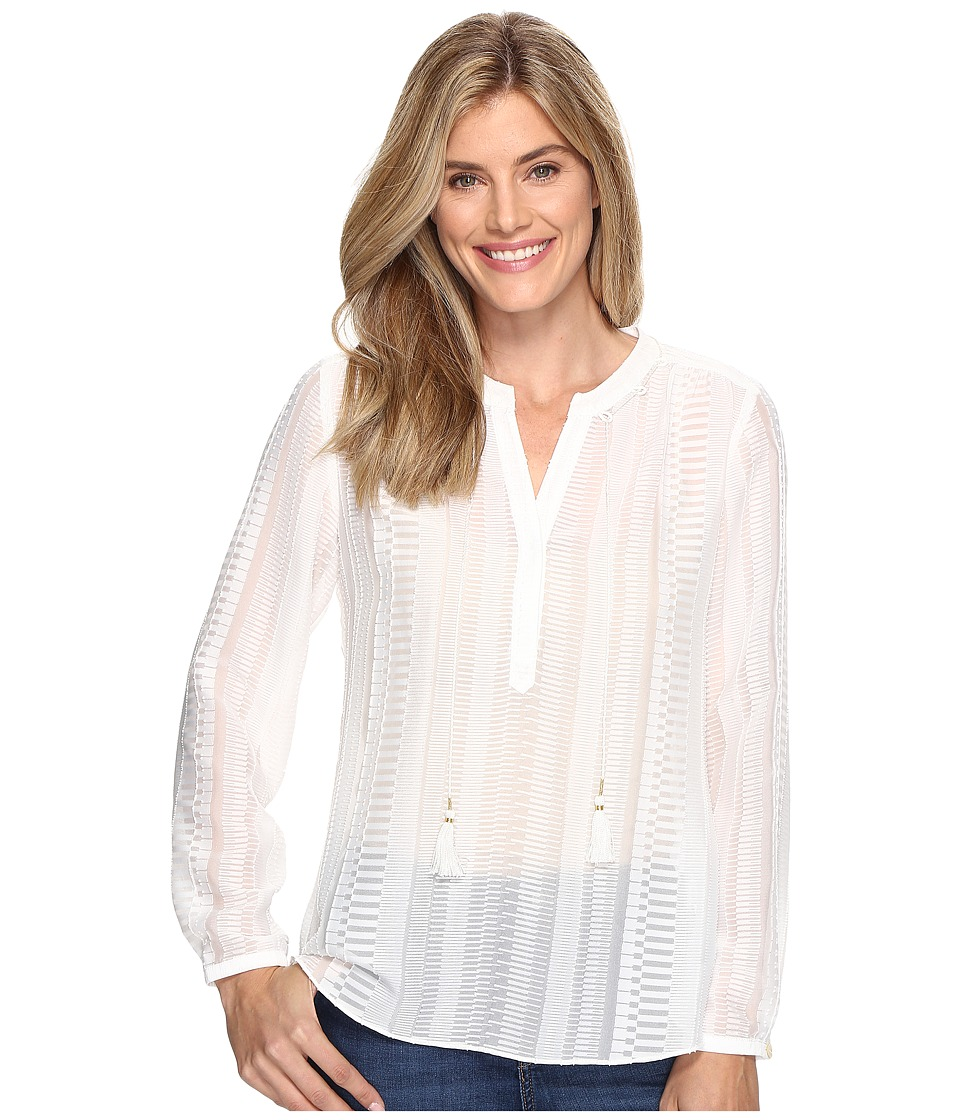 NIC+ZOE - Modern Romance Top (Paper White) Women's Clothing