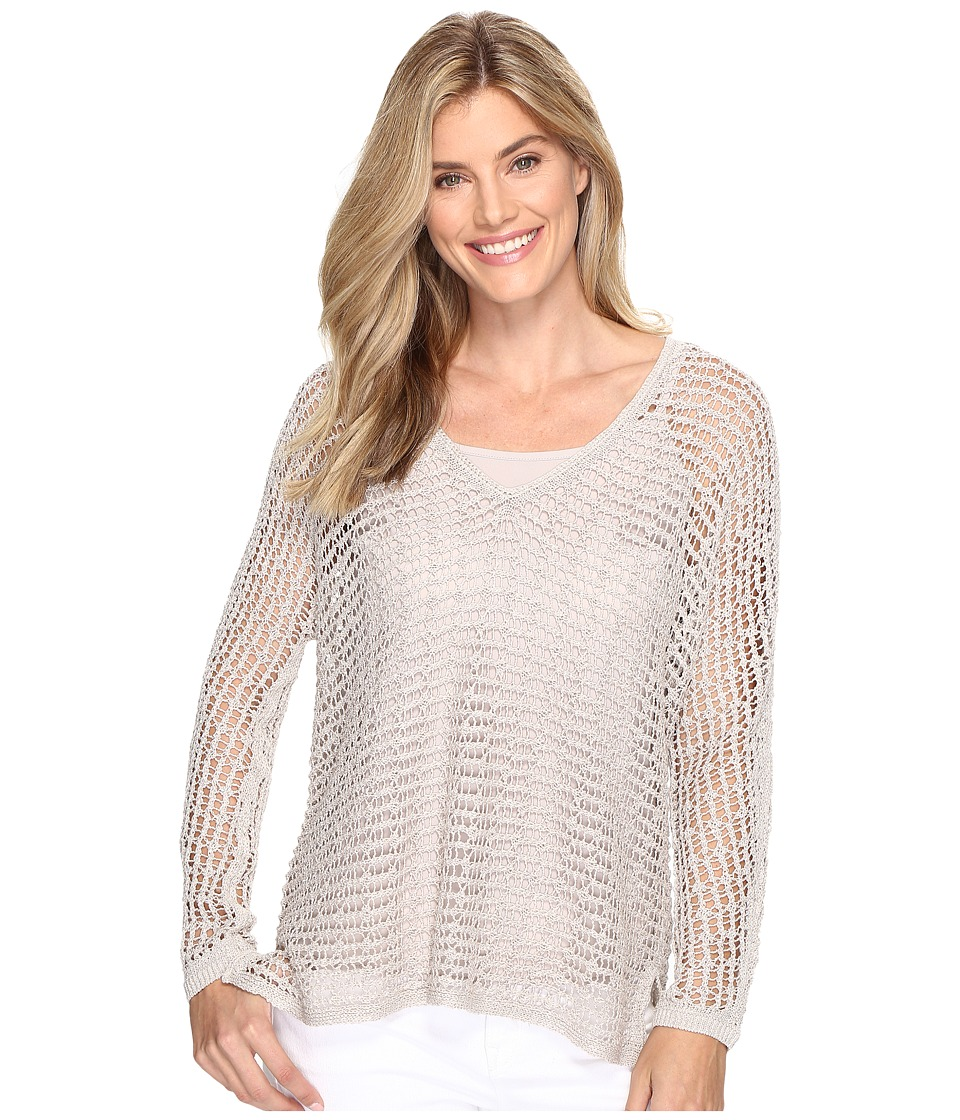 NIC+ZOE - Sun Catcher Top (French Linen) Women's Sweater