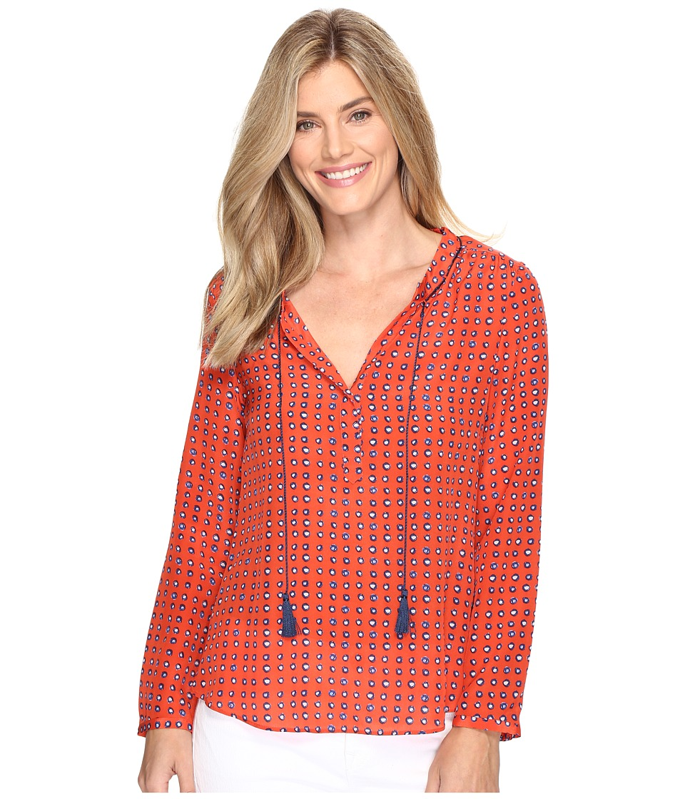 NIC+ZOE - Vivid Dot Top (Multi) Women's Clothing
