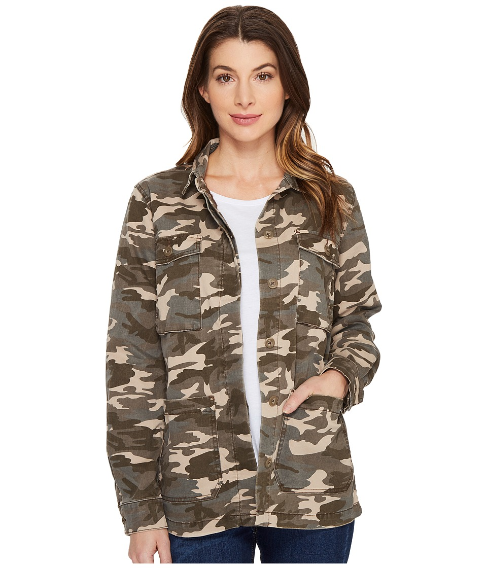 Jag Jeans - Autumn Jacket in Olive Camo Twill (Olive) Women's Coat