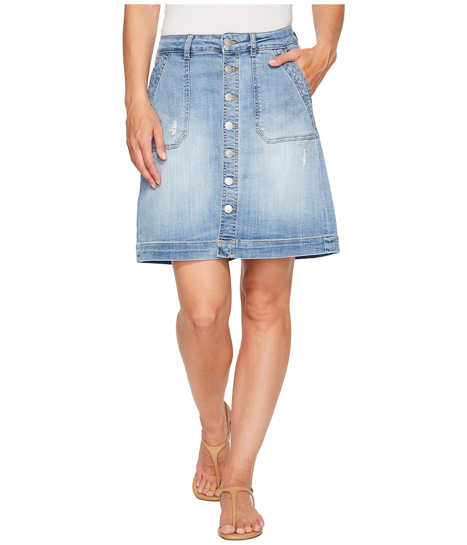 Jag Jeans - Florence Skirt Crosshatch Denim in Blue Issue (Blue Issue) Women's Skirt
