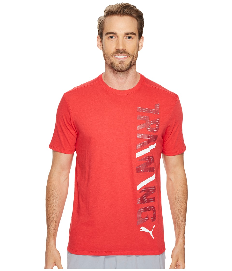 PUMA - Training Vertical Tee (Toreador Tibetan Red) Men's T Shirt
