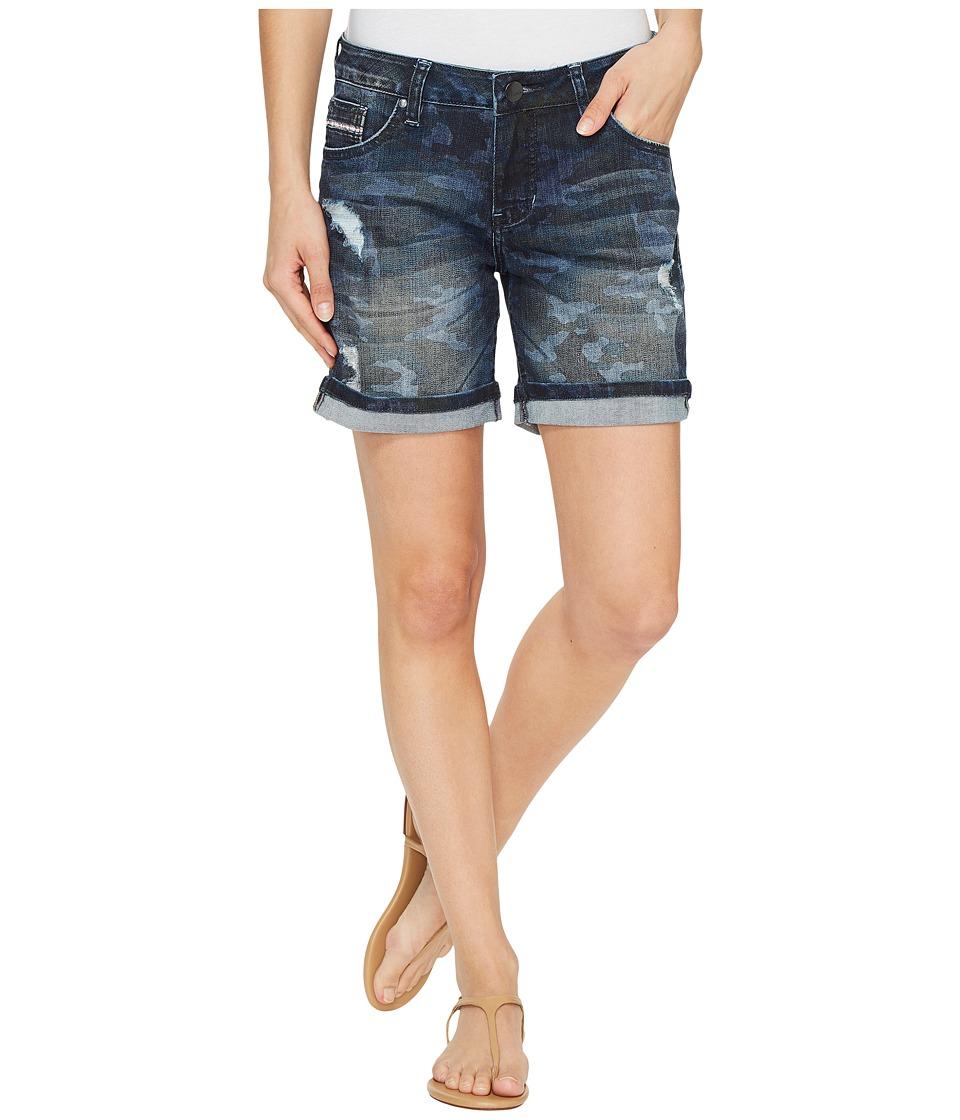 Jag Jeans - Alex Relaxed Boyfriend Shorts in Camo Printed Denim (Camo) Women's Shorts