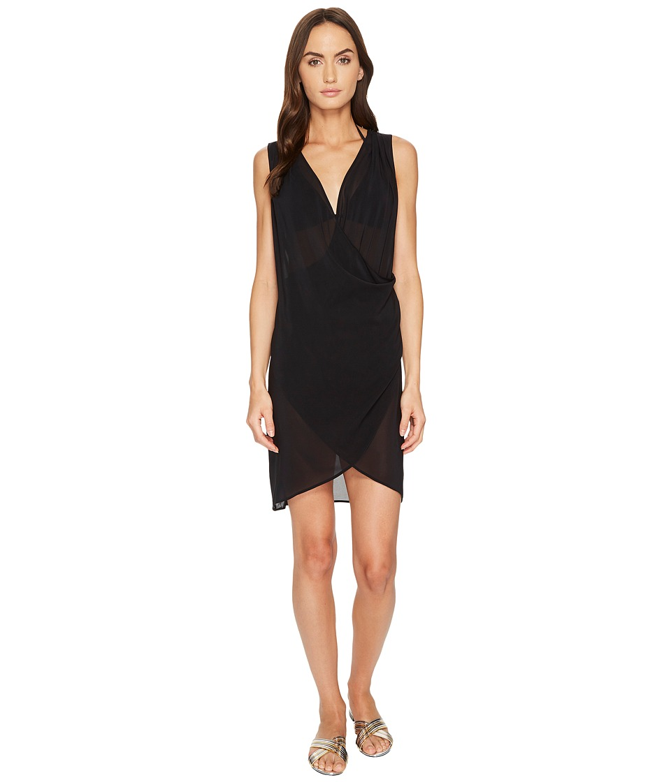 La Perla Magic Wrap Dress (Black) Women