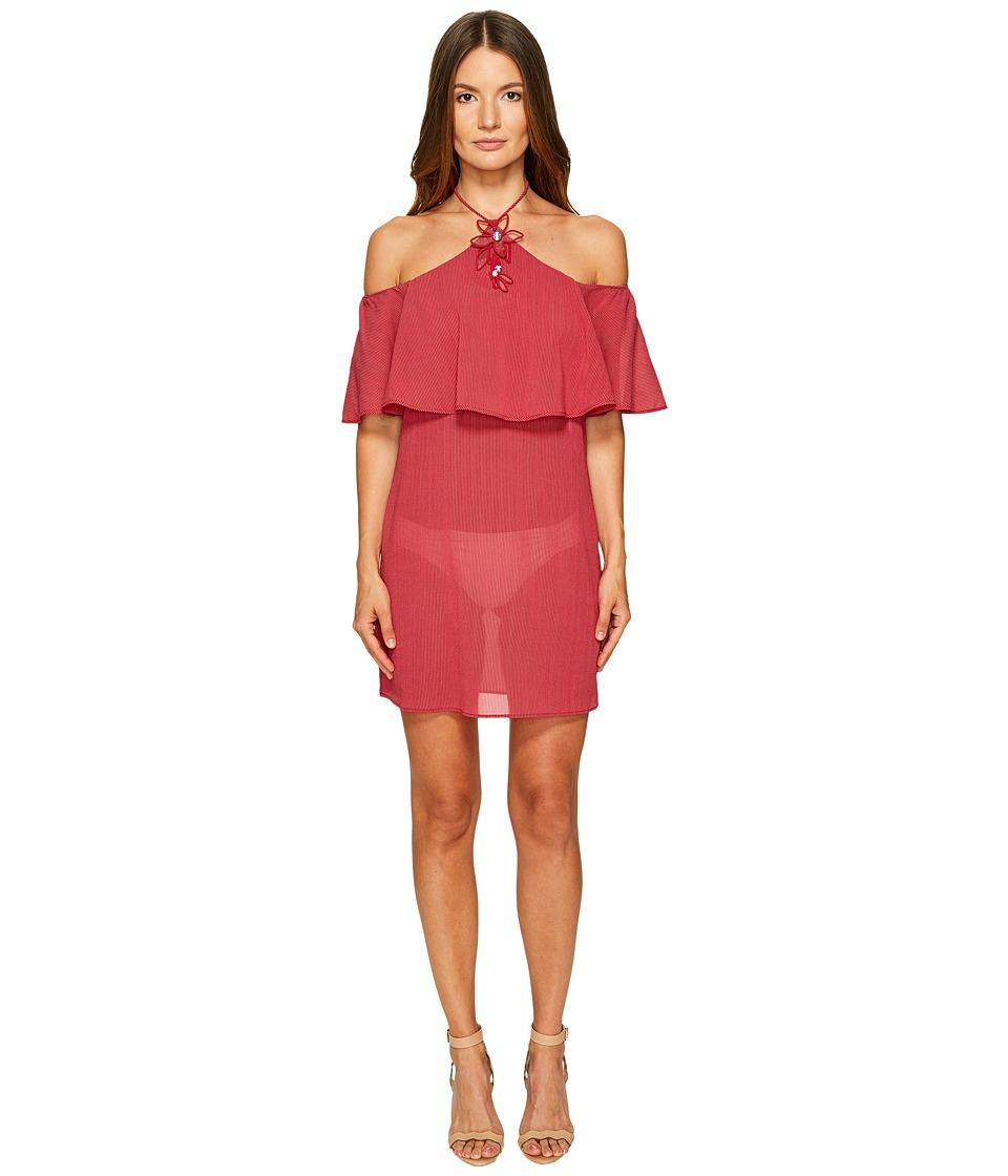La Perla Avant Garden Halter Dress (Gessato Red) Women