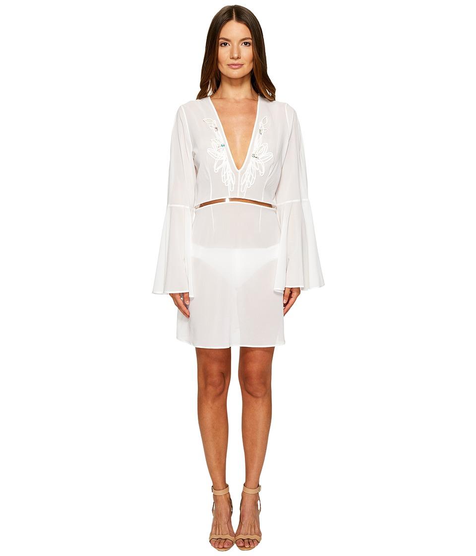 La Perla Avant Garden Dress (Gessato White) Women