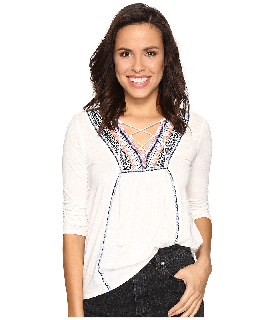Lucky Brand - Embroidered Top (Marshmallow) Women's Blouse
