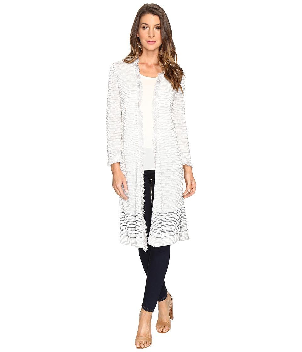 NIC+ZOE - Stiped Duster Cardy (Multi) Women's Sweater