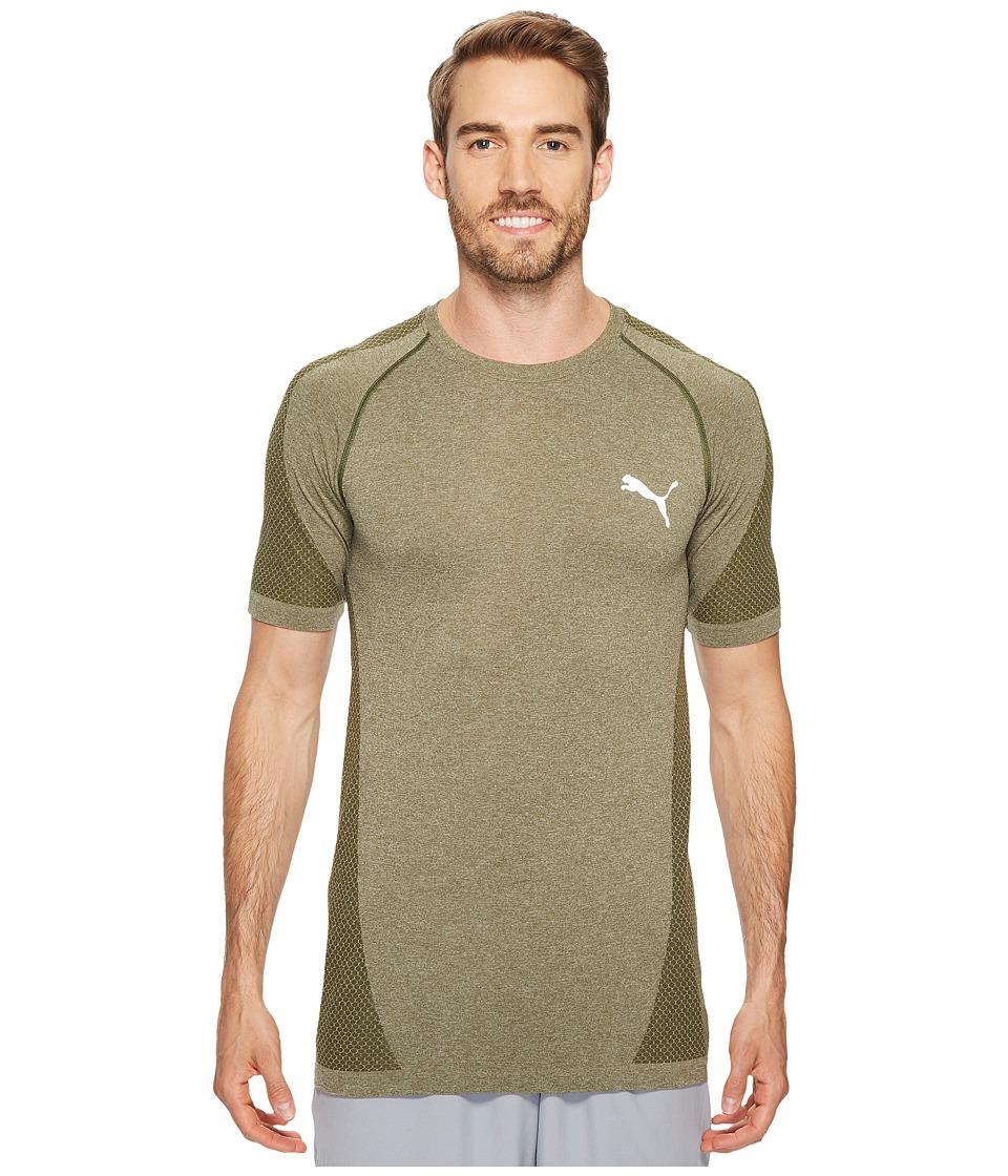 PUMA - evoKNIT Better Tee (Olive Night Heather) Men's T Shirt