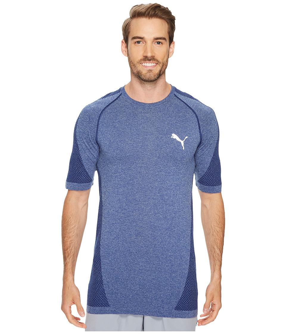 PUMA - evoKNIT Better Tee (Blue Depths Heather) Men's T Shirt