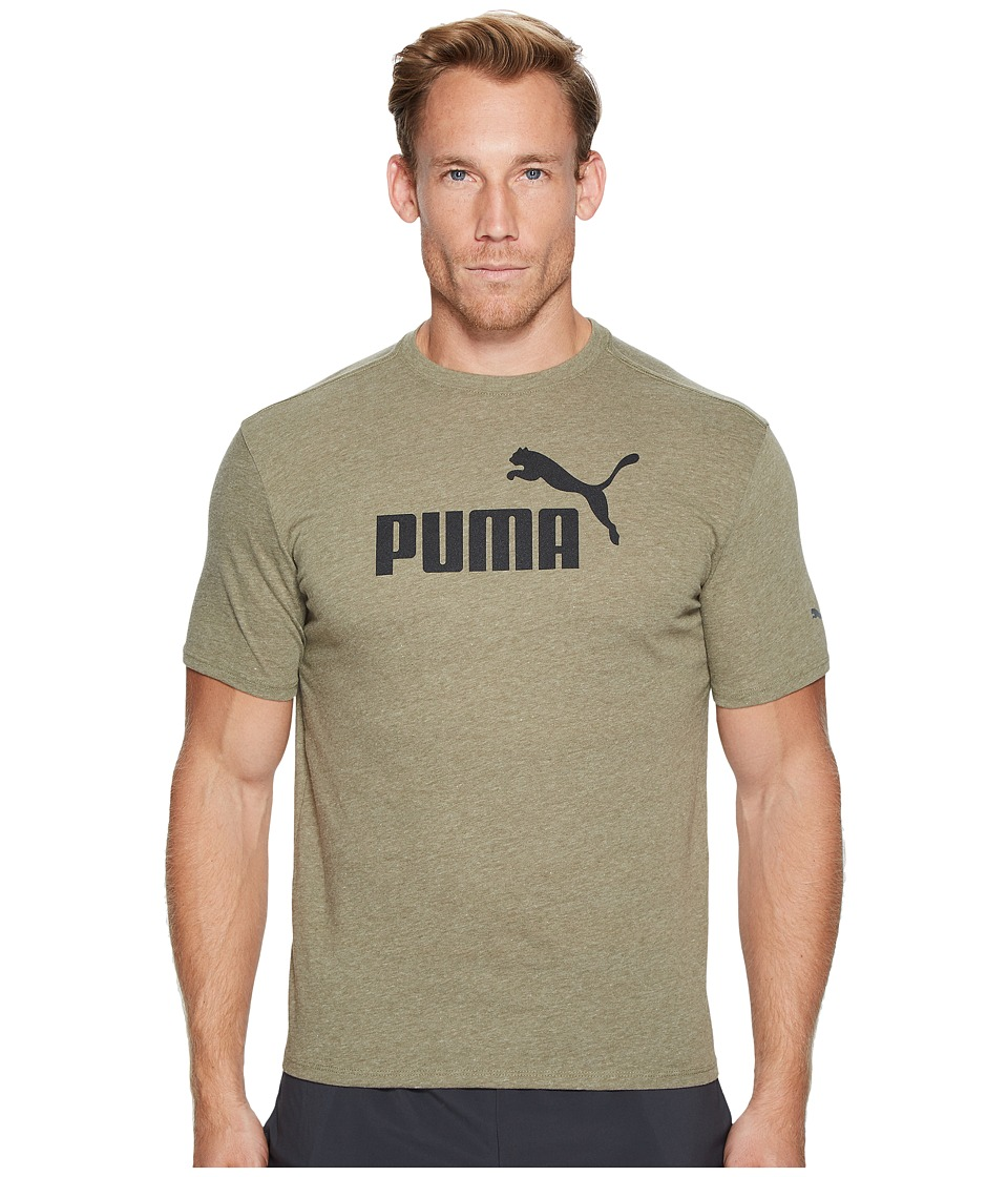 PUMA No. 1 Logo Performance Graphic Tee (Olive Night Heather) Men
