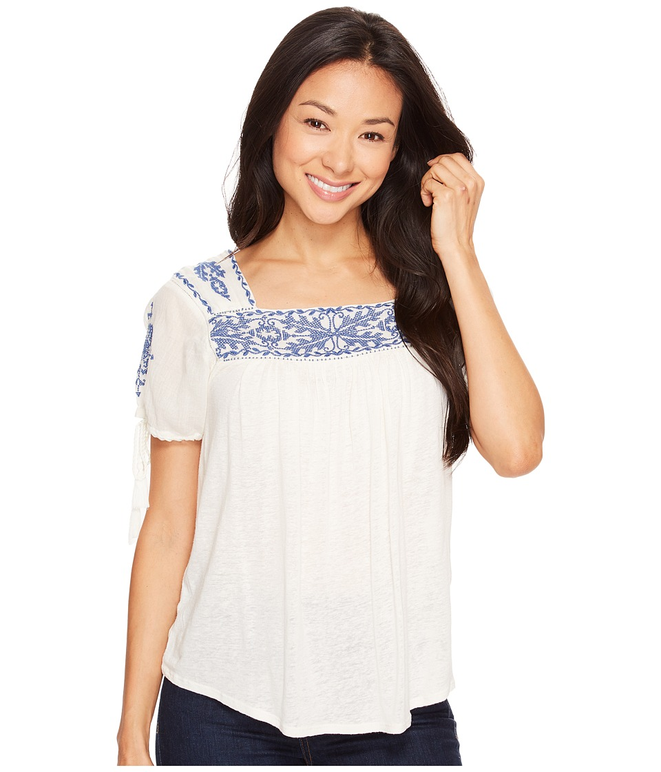 Lucky Brand - Embroidered Top (Eggshell) Women's Blouse