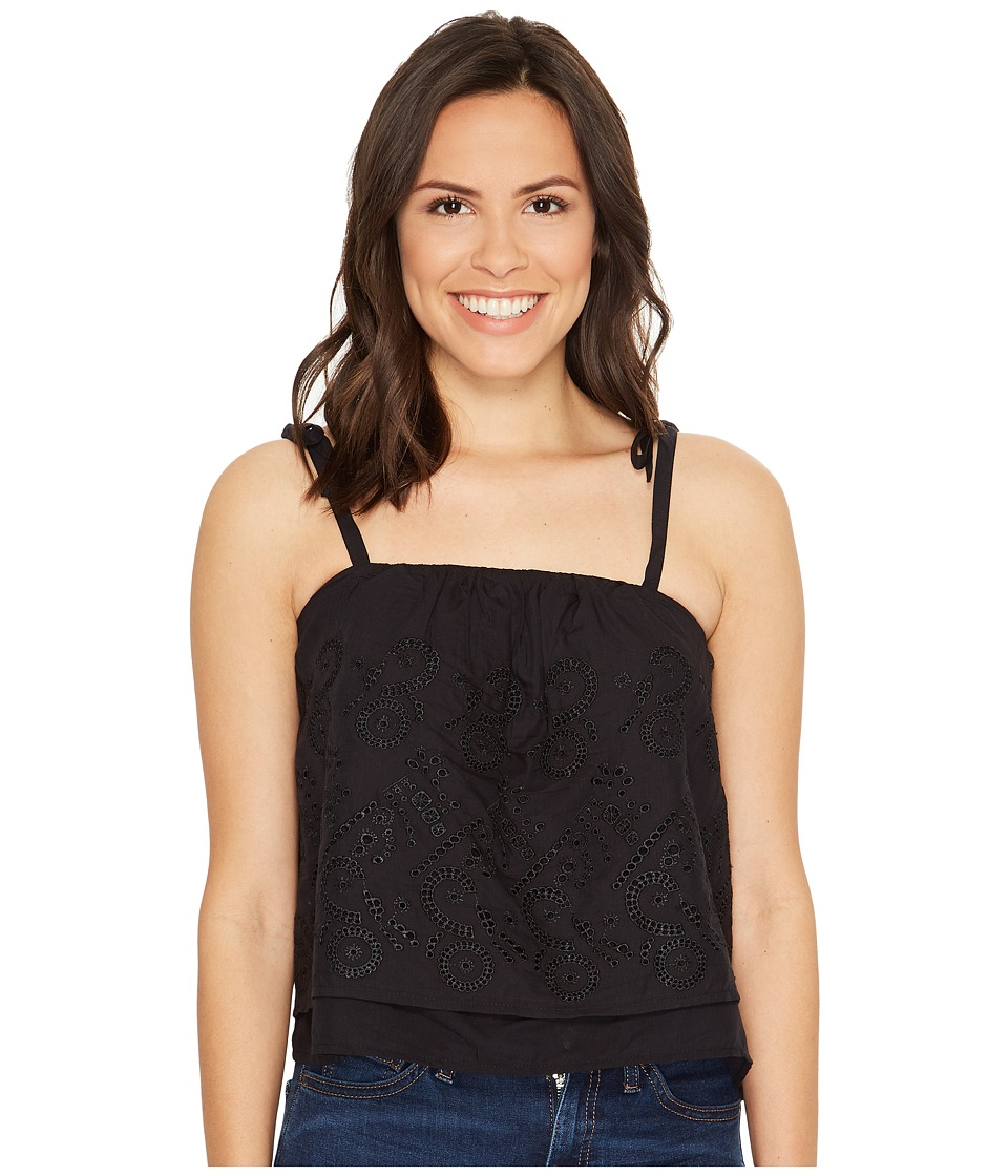 Lucky Brand - Eyelet Tank Top (Lucky Black) Women's Clothing