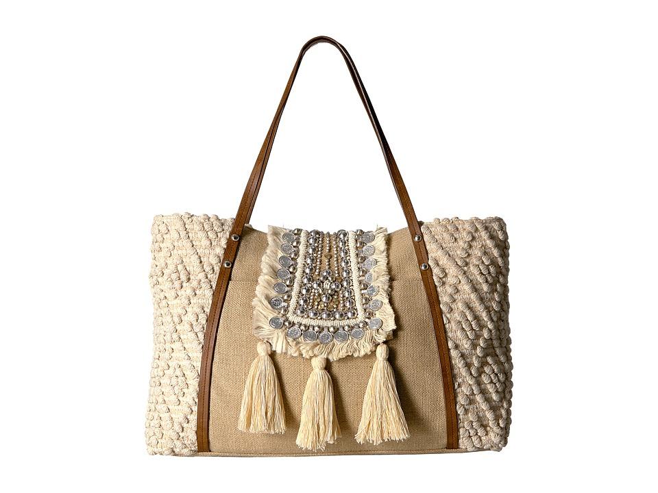 Steve Madden - Jali Tote by Steven (Natural) Tote Handbags