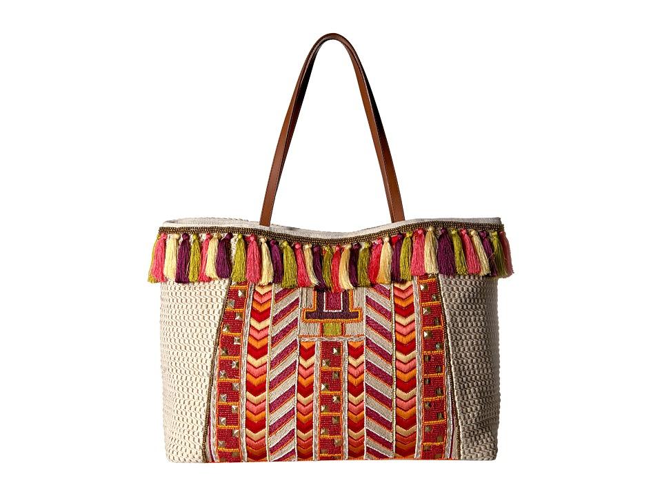 Steve Madden - Jkarma Tote by Steven (Coral/Multi) Tote Handbags