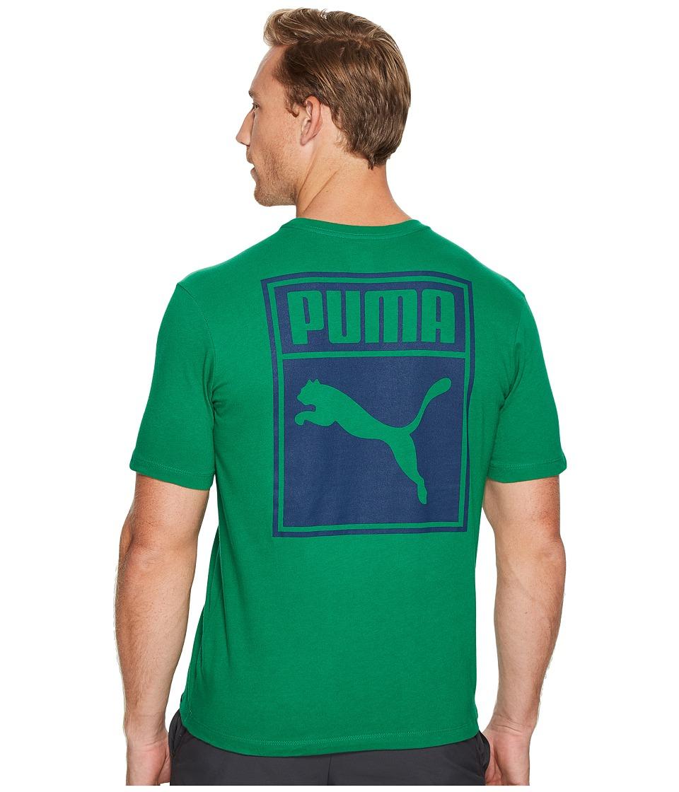 PUMA - Archinve Logo Box Tee (Verdant Green/Blue Depths) Men's T Shirt