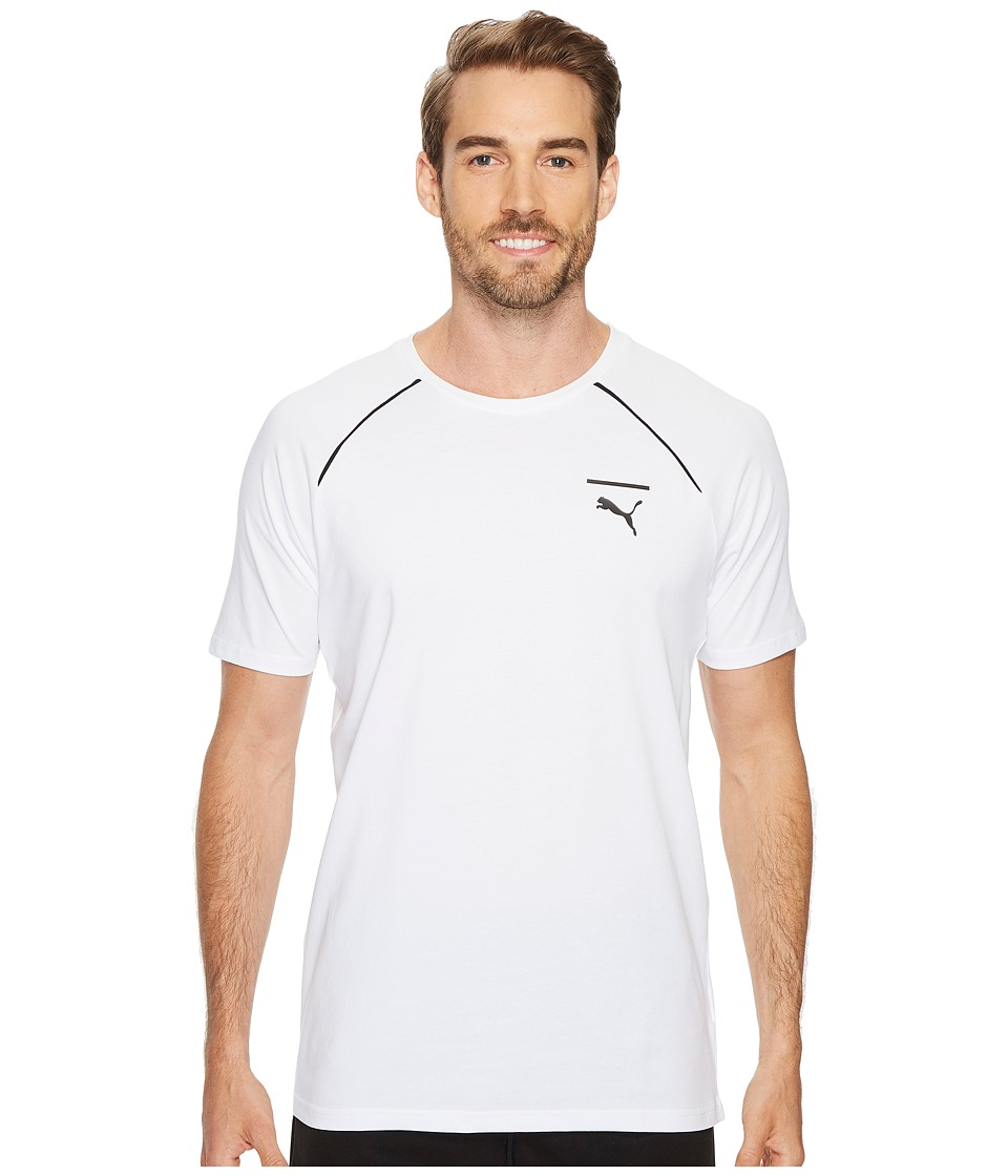 PUMA - Evo Core Tee (PUMA White) Men's T Shirt