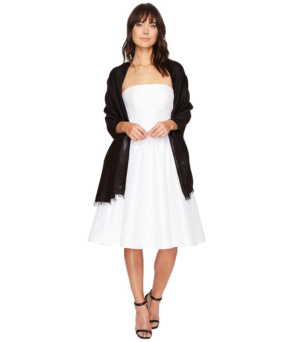 Calvin Klein - Lurex Color Block (Black) Scarves