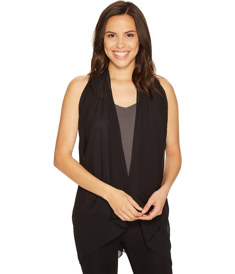 Calvin Klein Solid Scarf Vest (Black) Women