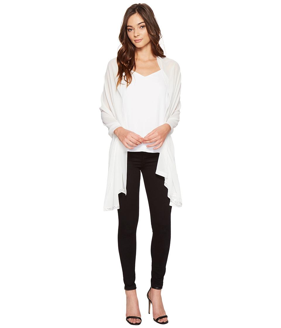 Calvin Klein - Heat Seal Beaded Edge Wrap (Eggshell) Women's Clothing