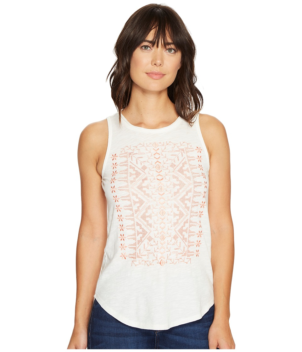 Lucky Brand - Coral Embroidered Tank Top (Marshmallow) Women's Sleeveless