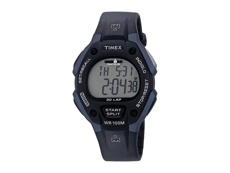 Timex - Ironman 30 Lap Full (Black/Blue) Sport Watches