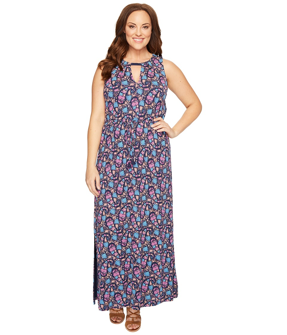 Lucky Brand Plus Size Floral Print Long Dress