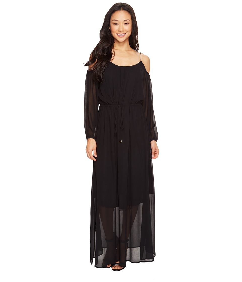 Calvin Klein - Off Shoulder Maxi Dress (Black) Women's Dress
