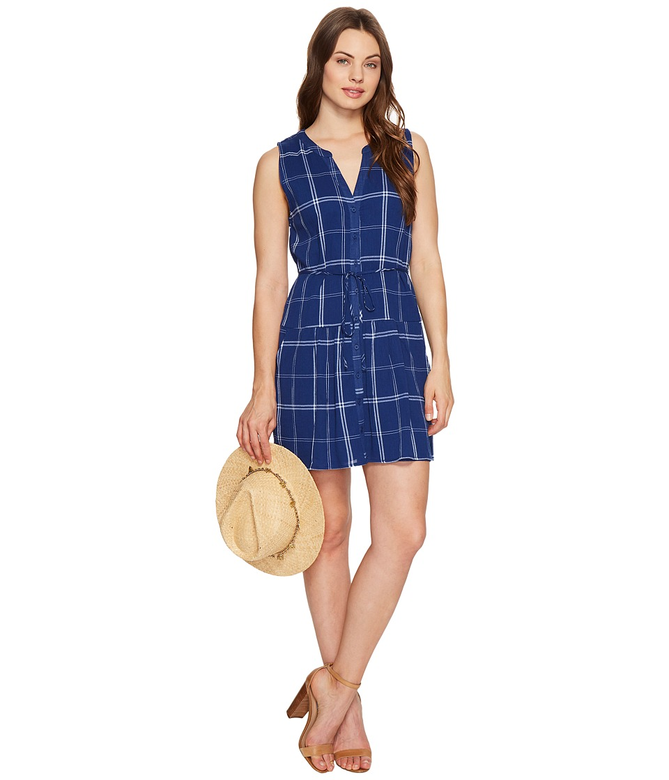 BB Dakota - Presley Plaid Dress (Indigo) Women's Dress