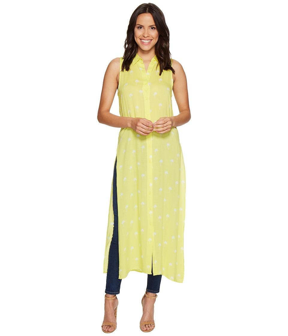 BB Dakota - Lysa Palm Tree Print Top (Yellow) Women's Clothing