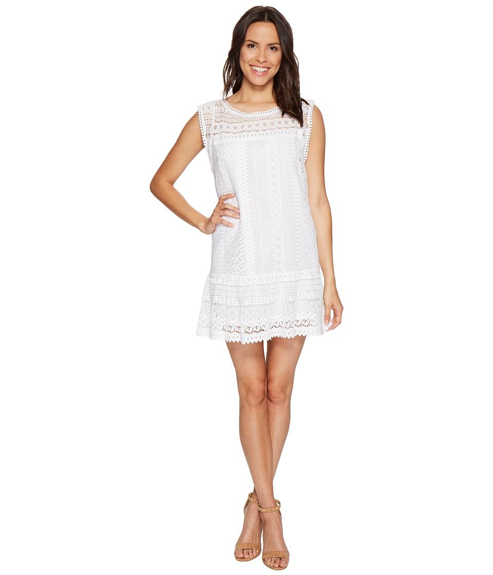 BB Dakota - Milo Crochet Dress (Optic White) Women's Dress