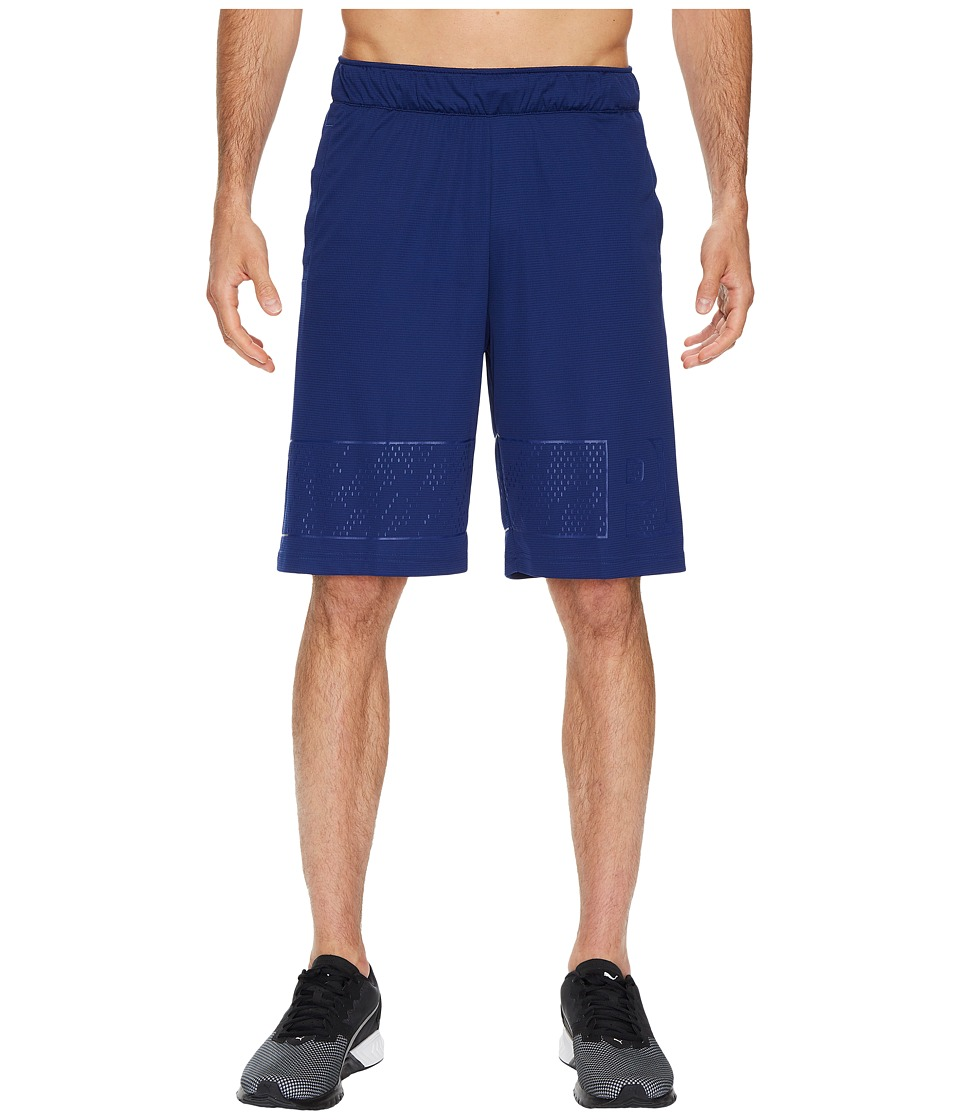 PUMA - Motion Flex 10 Graphic Shorts (Blue Depths) Men's Shorts