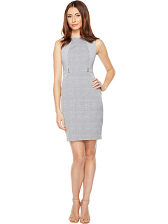 Plaid Jacquard Sheath Dress by Calvin Klein
