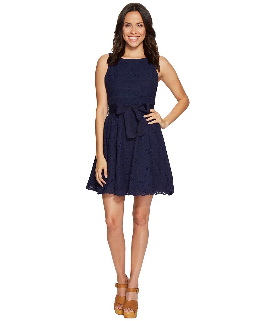 BB Dakota - TY Eyelet Dress (Navy) Women's Dress