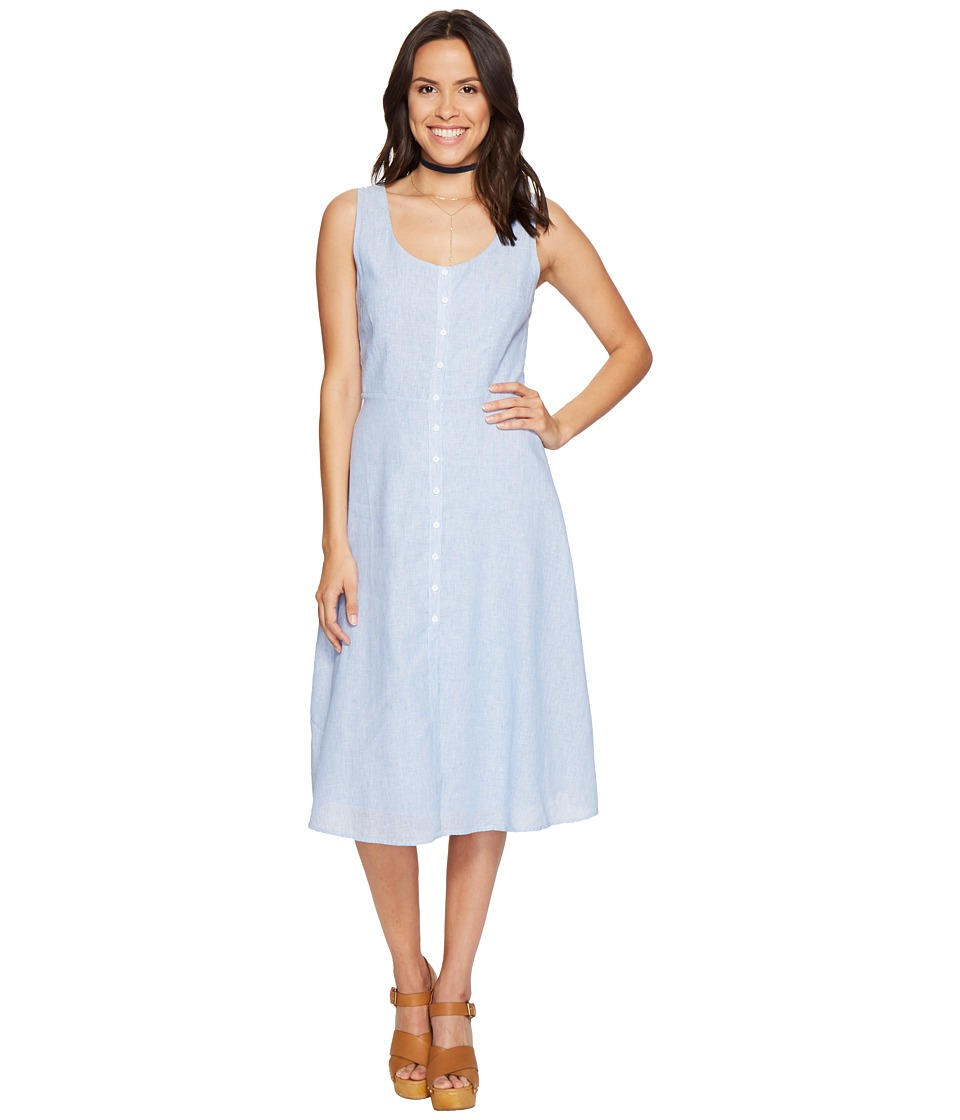 BB Dakota - Lavinia Button Front Dress (Light Blue) Women's Dress