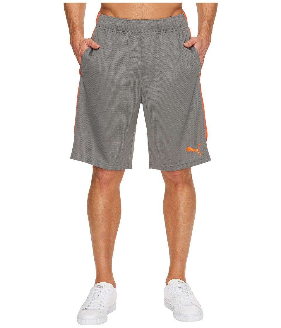 PUMA - Formstripe Mesh Shorts (Quiet Shade/Cherry Tomato) Men's Shorts