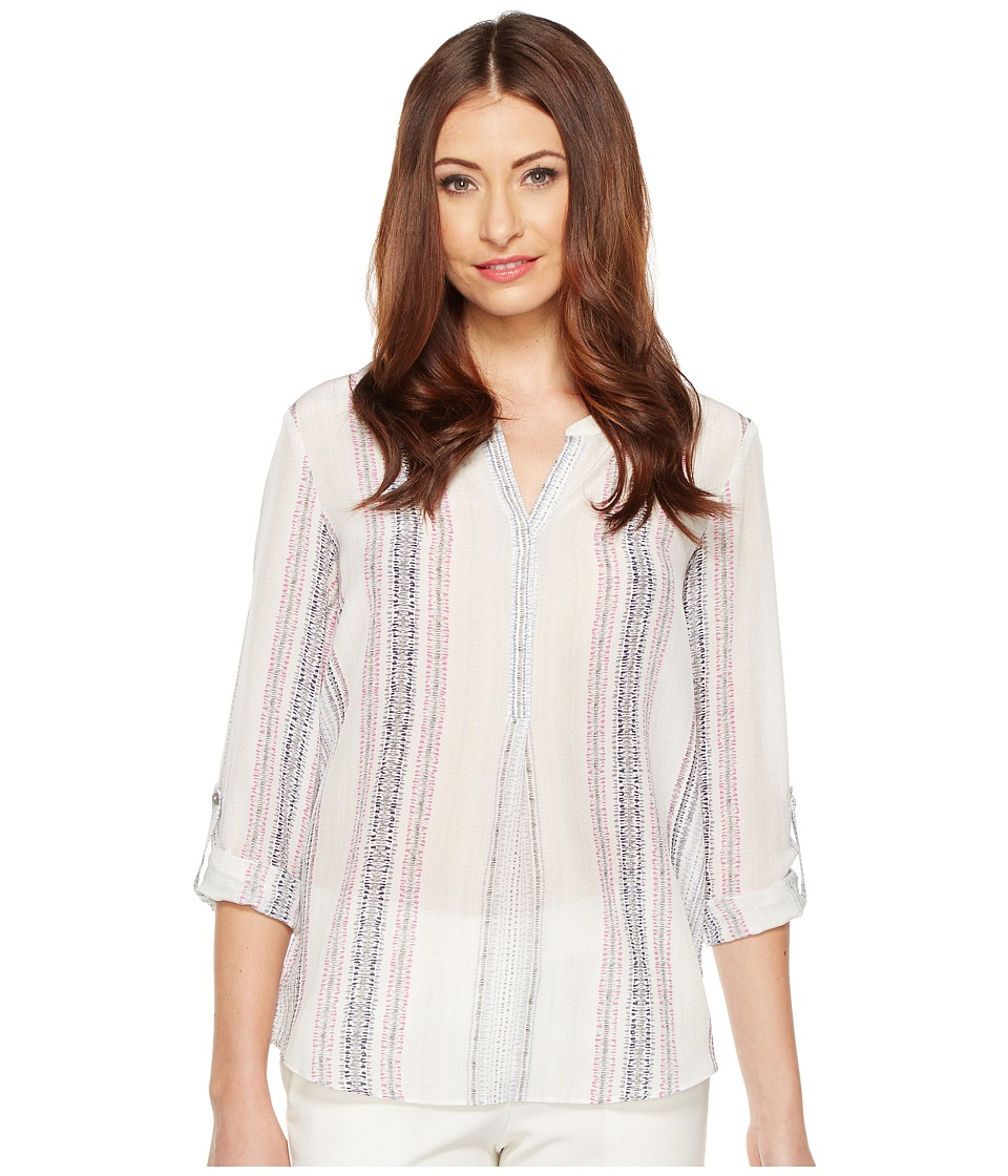 NIC+ZOE - Stitch Lines Top (Multi) Women's Clothing