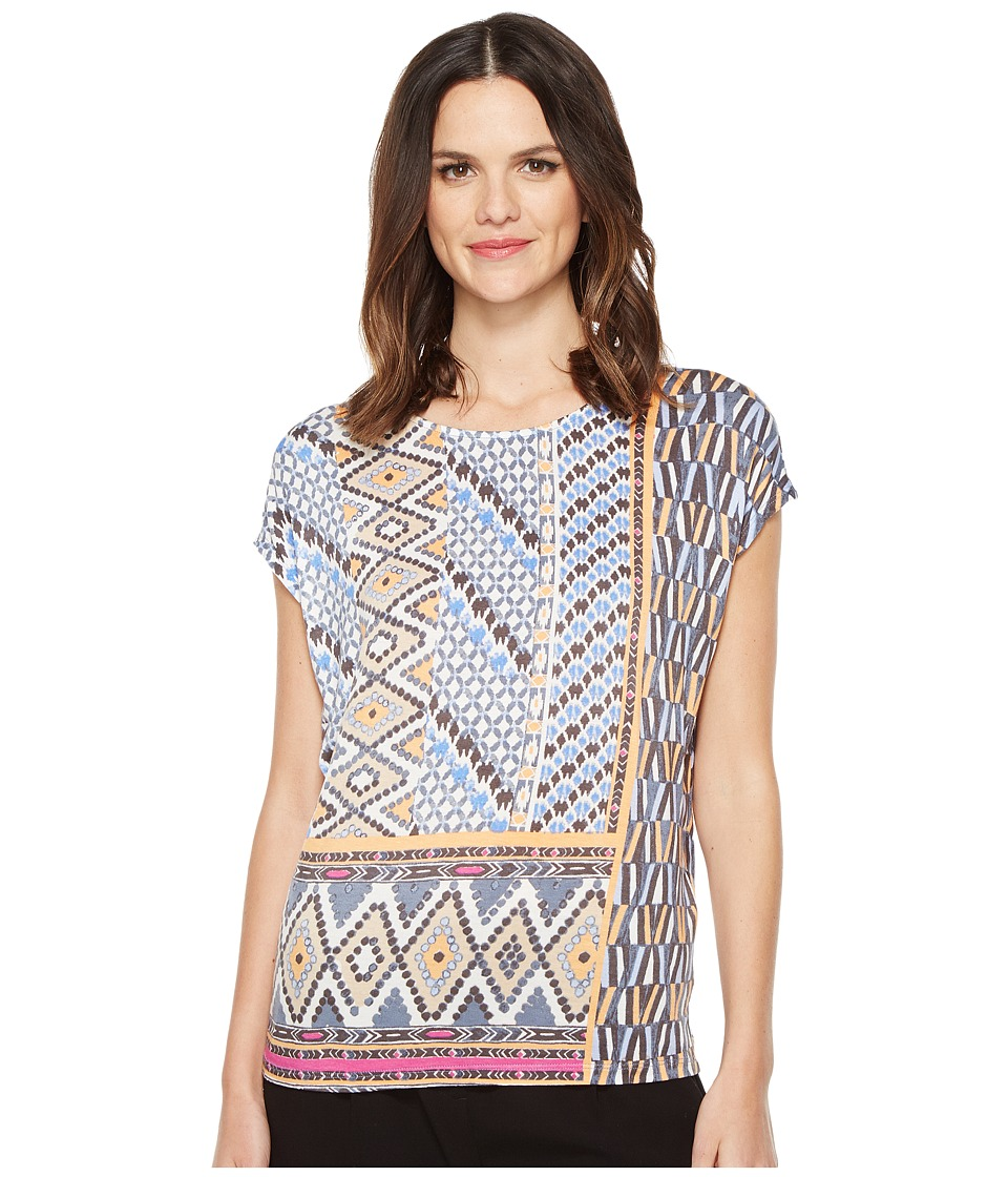 NIC+ZOE - Geo Storm Top (Multi) Women's Clothing