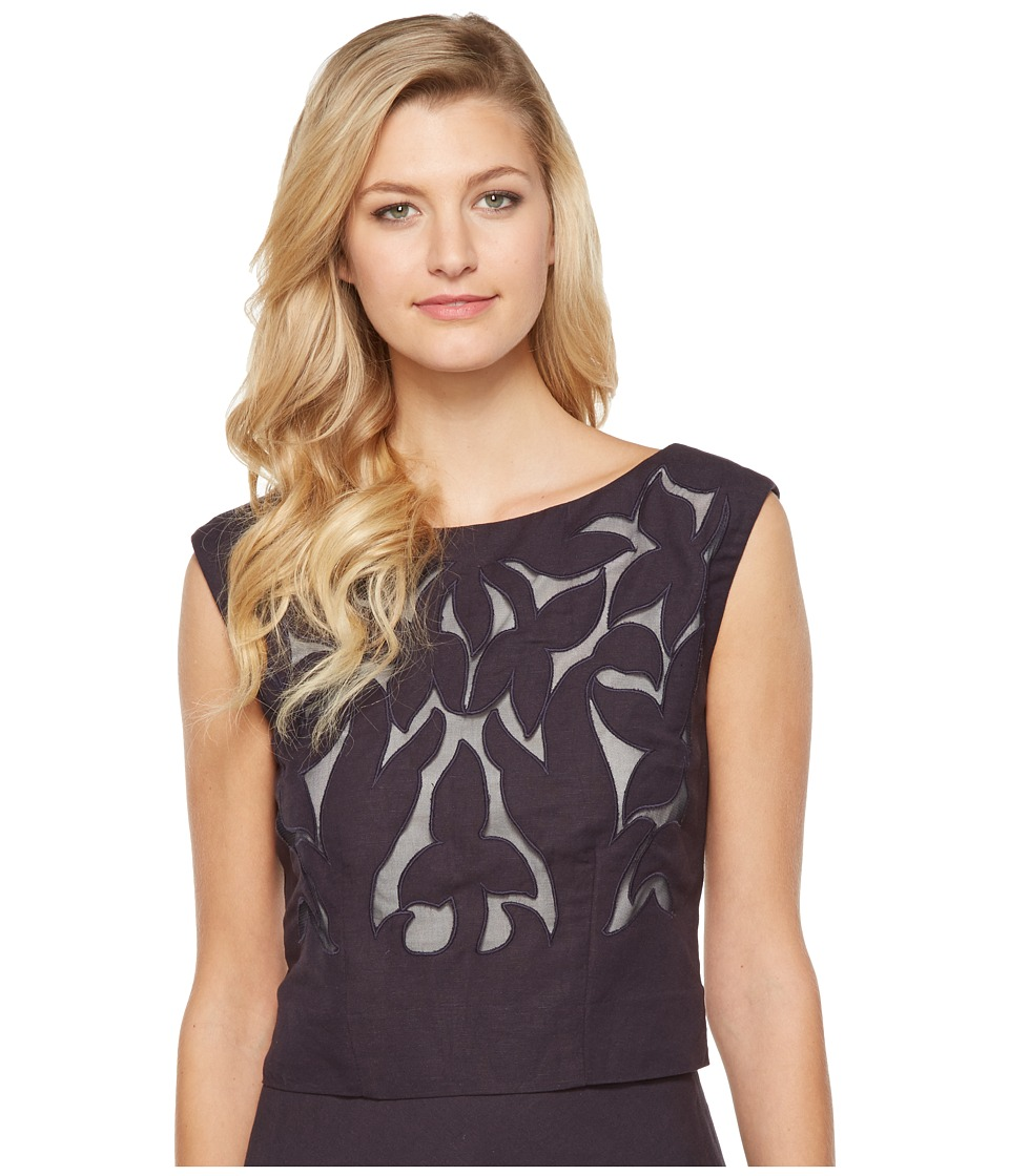 NIC+ZOE - Secret Garden Top (Midnight) Women's Clothing