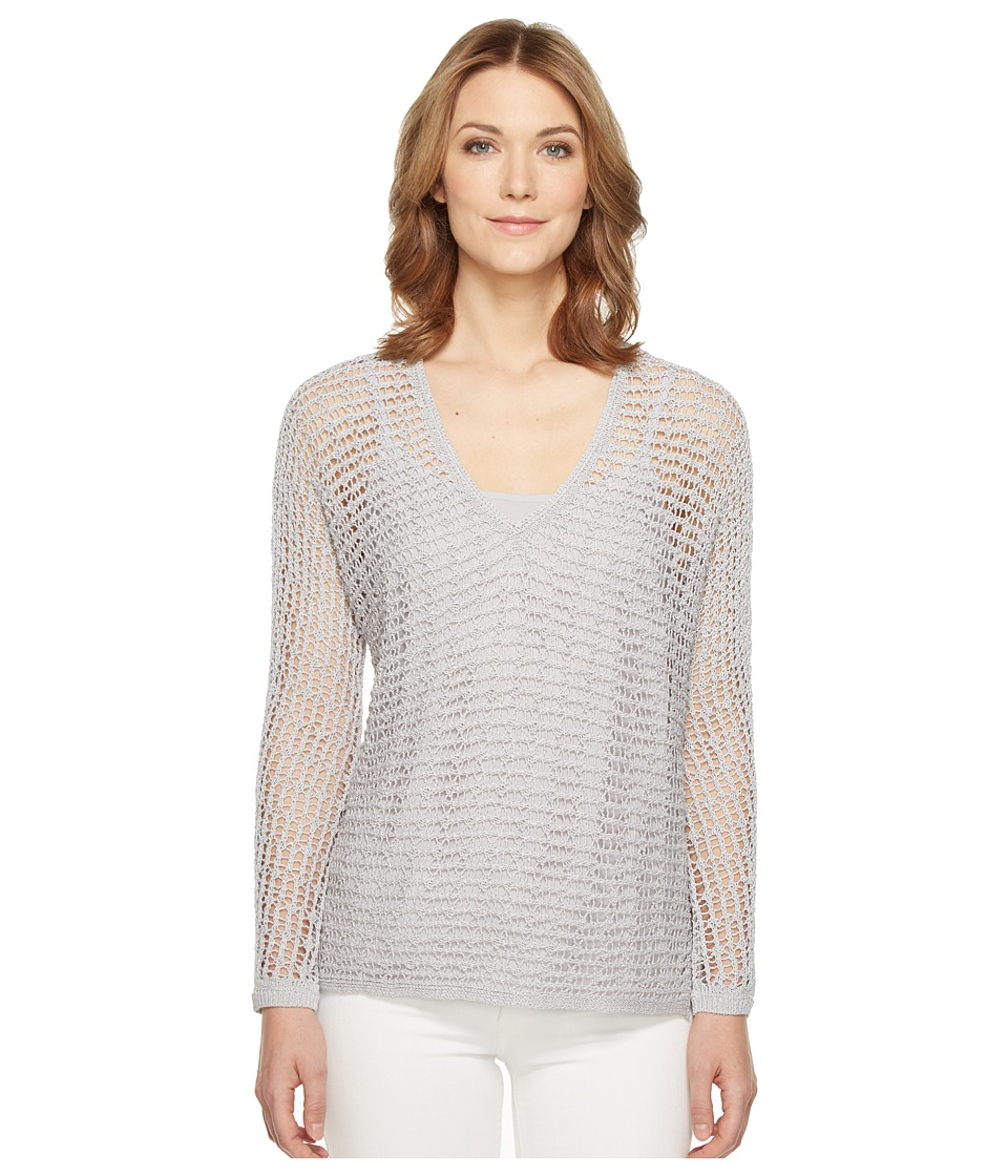NIC+ZOE - Sun Catcher Top (Smoke) Women's Sweater