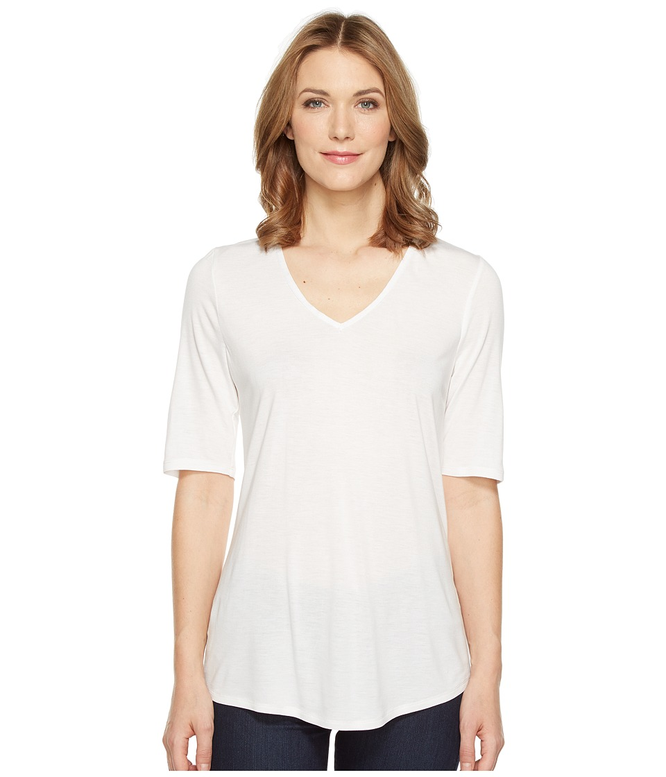 NIC+ZOE - Coveted 3/4 Sleeve Top (Paper White) Women's Clothing