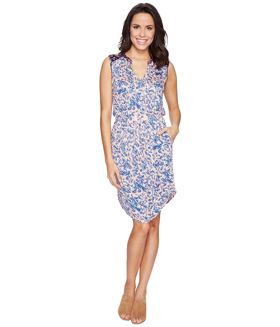 Lucky Brand - Midi Waisted Knit Dress (Multi) Women's Dress