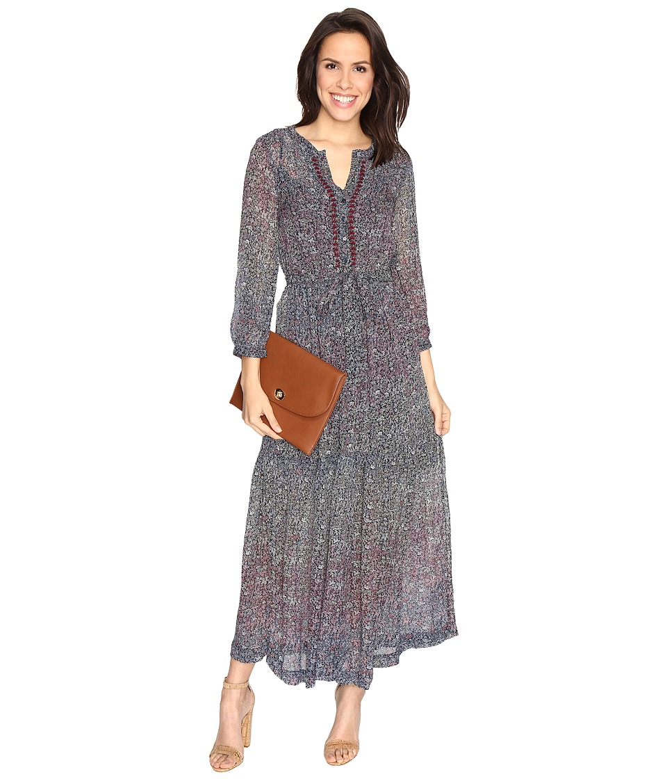 Lucky Brand - Ditsy Maxi Dress (Multi) Women's Dress