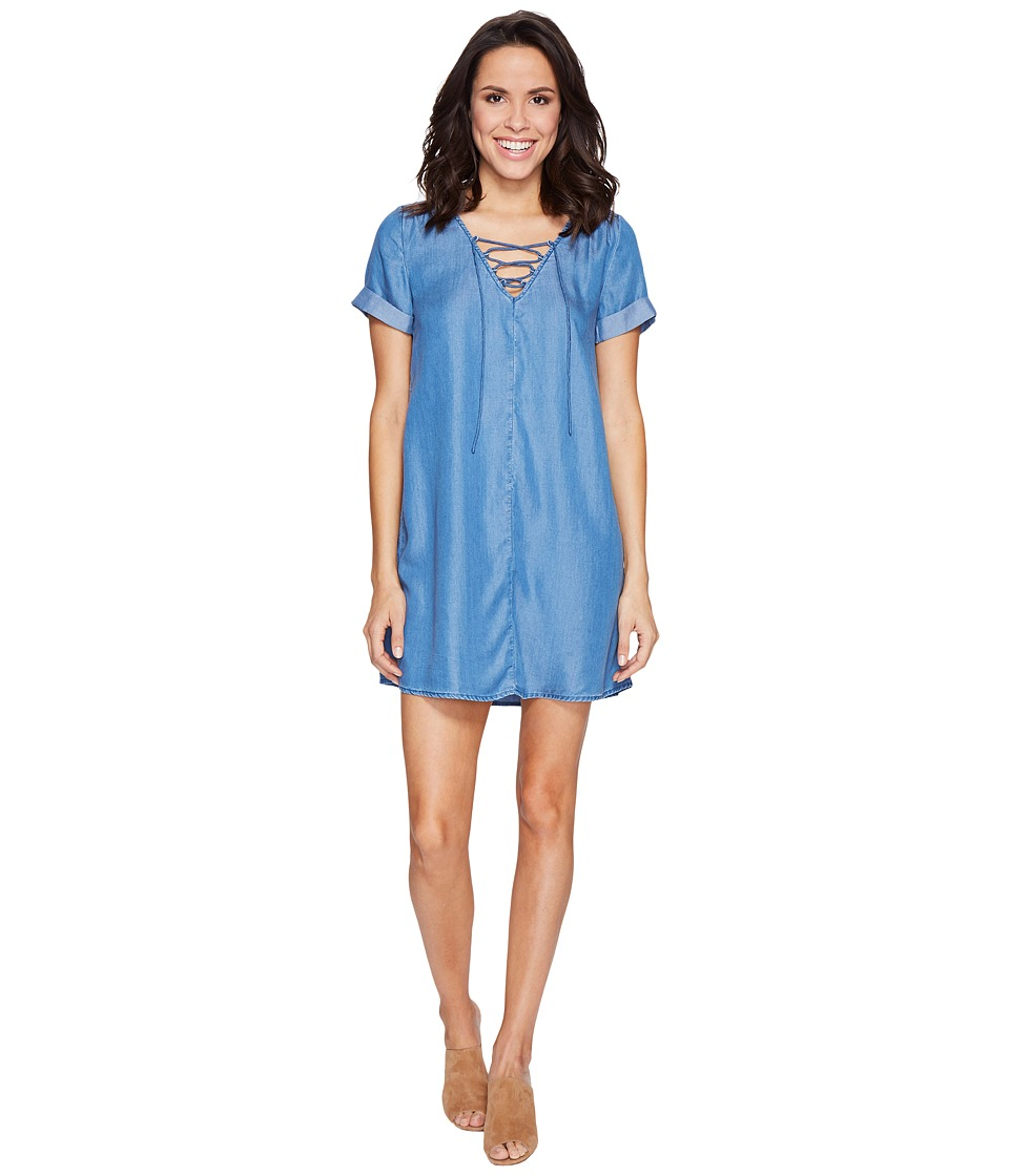 Lucky Brand - Tencel Swing Dress (Medium Wash) Women's Dress